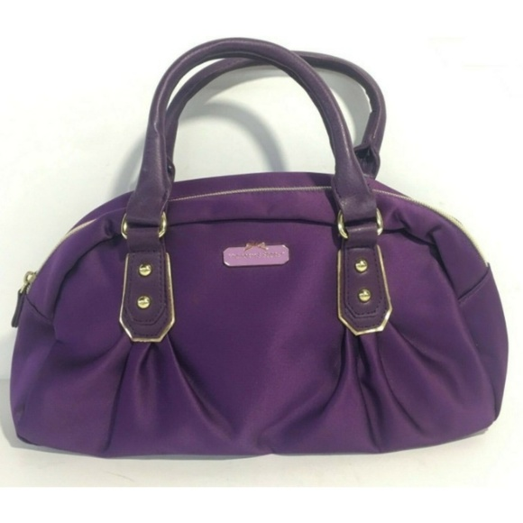 Victoria's Secret Handbags - 💜 VS Deep Purple $ Satin Mini Wristbag